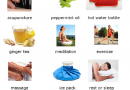Image showing various natural remedies for migraine headache